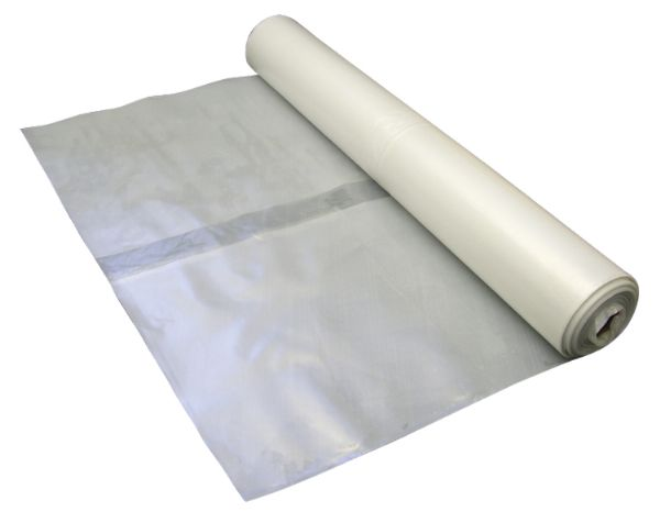 Protective Sheeting - Clear Polythene 4m x 25m 125MU/500 Gauge
